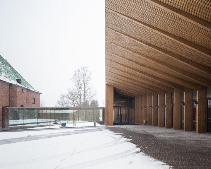 Entrance canopy., Gösta's Pavilion, Serlachius Museum