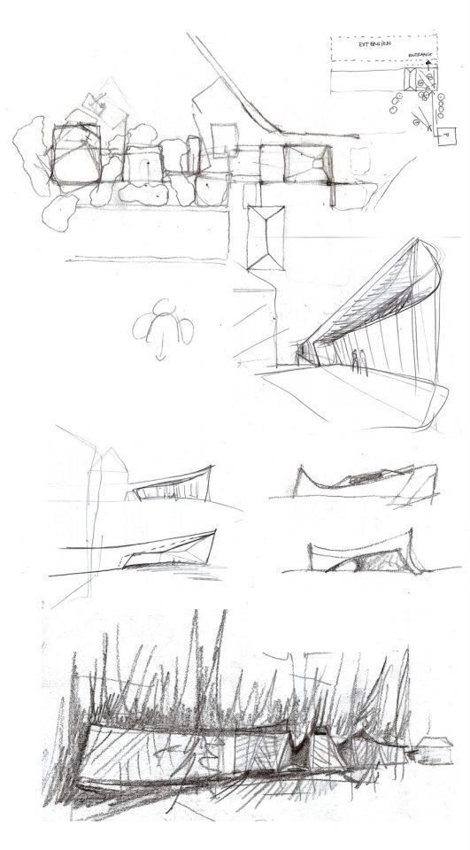 Sketches., Gösta's Pavilion, Serlachius Museum