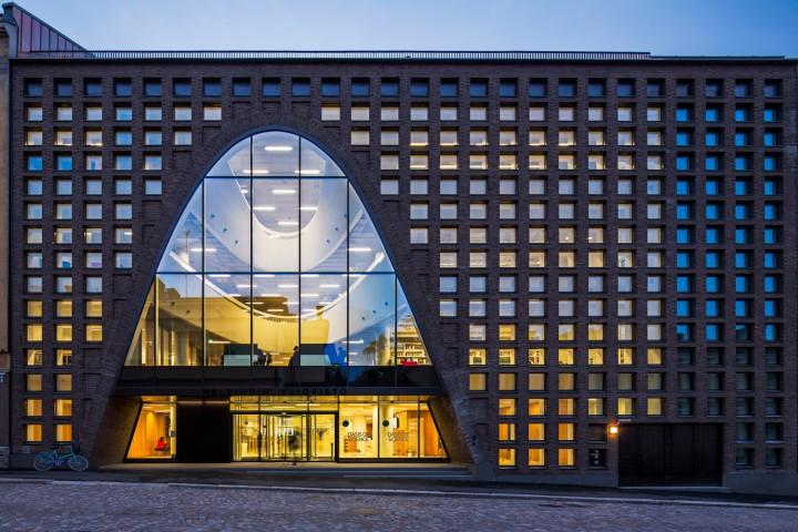 Fabianinkatu street side façade., Helsinki University Main Library Kaisa