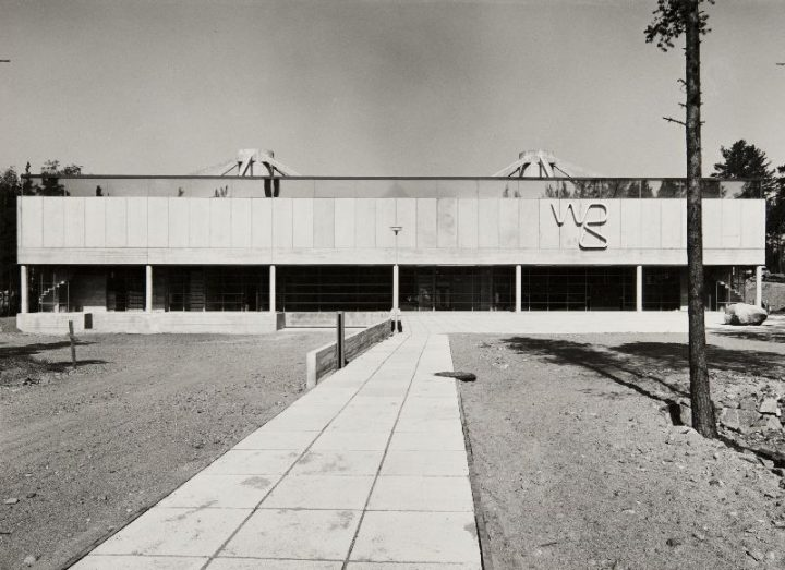 Main façade, the first phase, The WeeGee Exhibition Centre (Weiling & Göös Printing House)