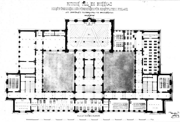 1st floor plan, Ateneum Art Museum