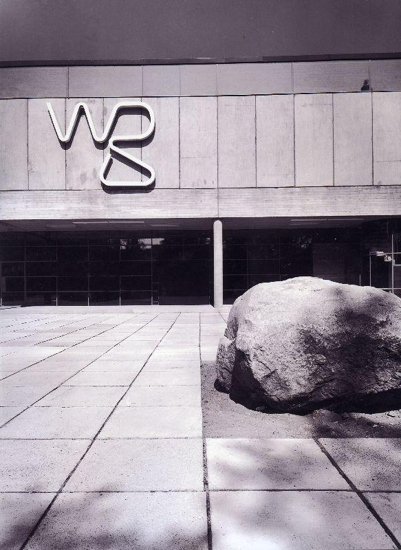 Main façade, The WeeGee Exhibition Centre (Weiling & Göös Printing House)