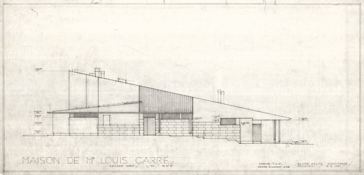 North elevation, Maison Louis Carré
