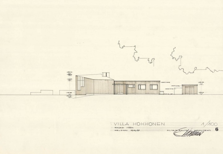 East elevation, Villa Kokkonen