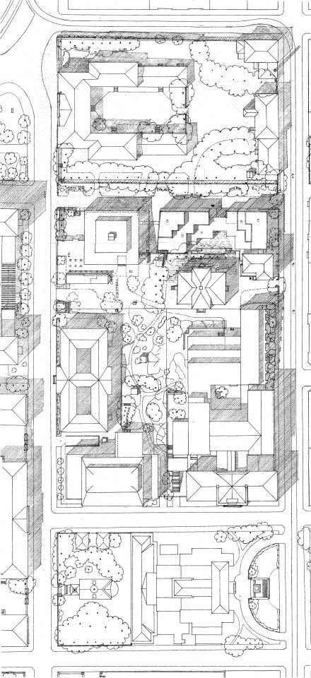 Site plan, Swedish School of Social Science, University of Helsinki