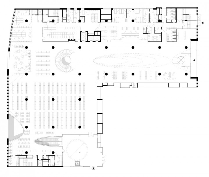 2nd floor, main library floor., Helsinki University Main Library Kaisa