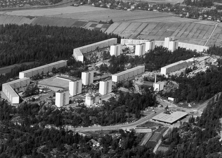 Aerial view in 1970, Pihlajamäki Residential Area