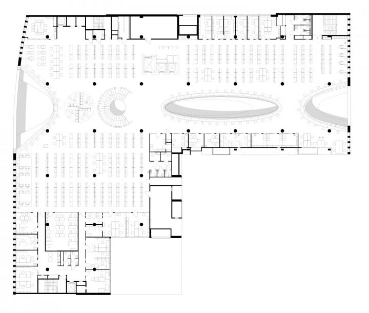 4th floor., Helsinki University Main Library Kaisa