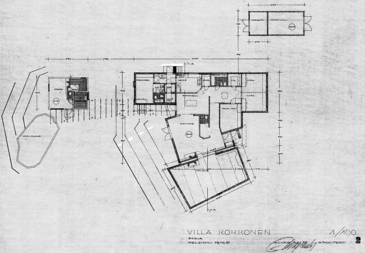 Floor plan, Villa Kokkonen