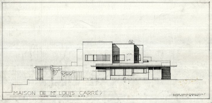 East elevation, Maison Louis Carré