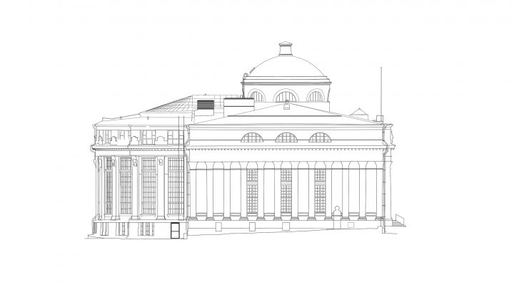 South elevation, The National Library of Finland