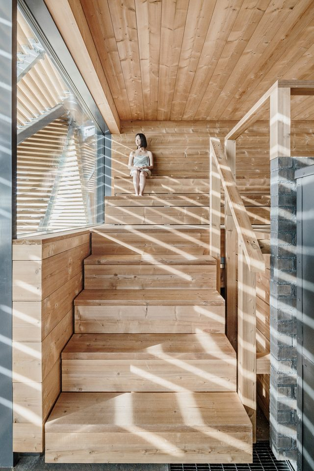 Once-heated sauna, Löyly public sauna and restaurant