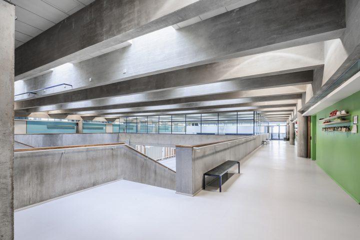 1st floor corridor, Roihuvuori School