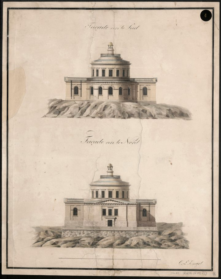 South and north elevations, Turku Observatory