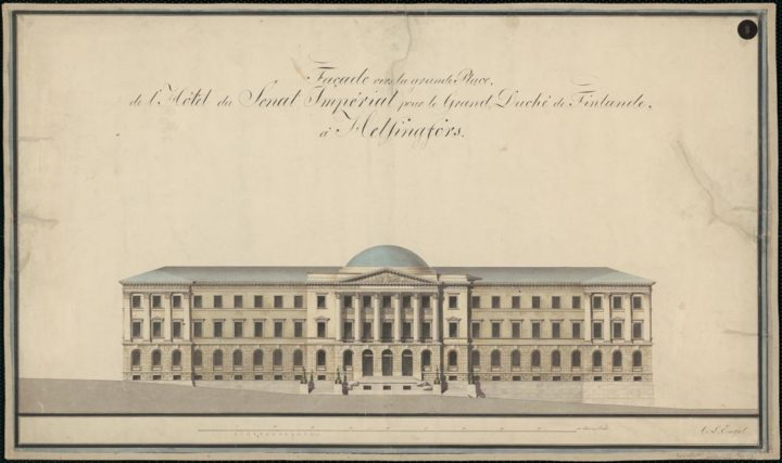 West elevation, Senate Palace