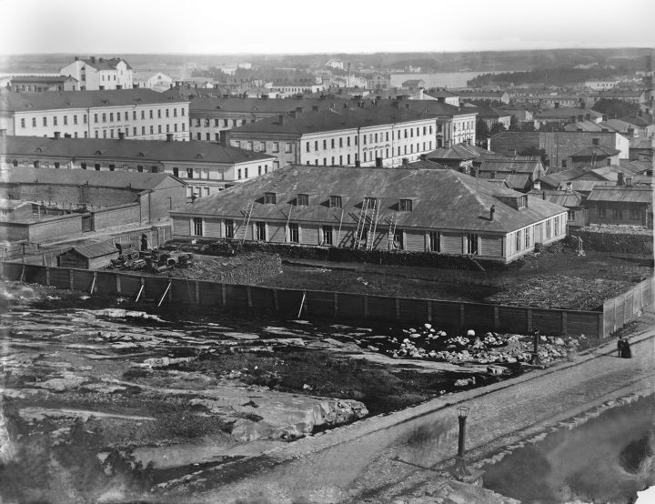 1867 panorama taken from Helsinki Observatory, Kaarti Barracks