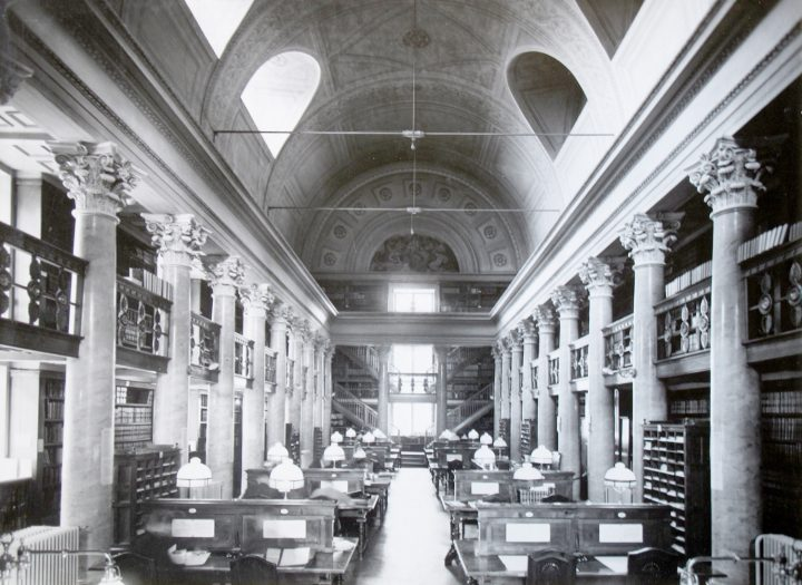 Northern hall in the 1930s, The National Library of Finland