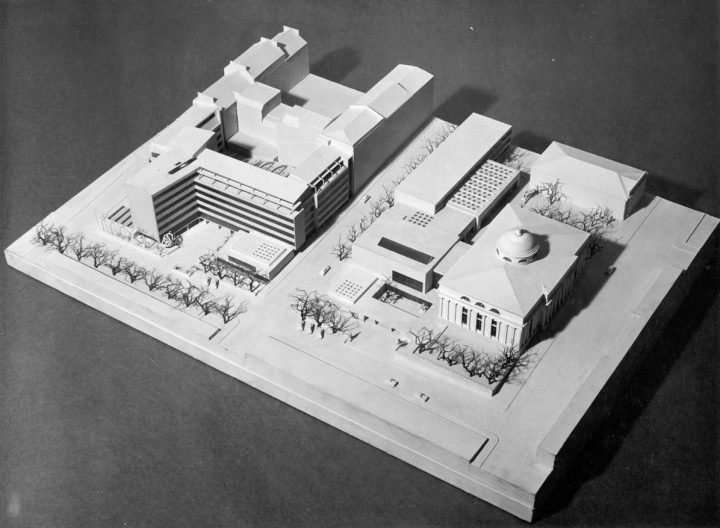 Scale model, Helsinki University Porthania Building