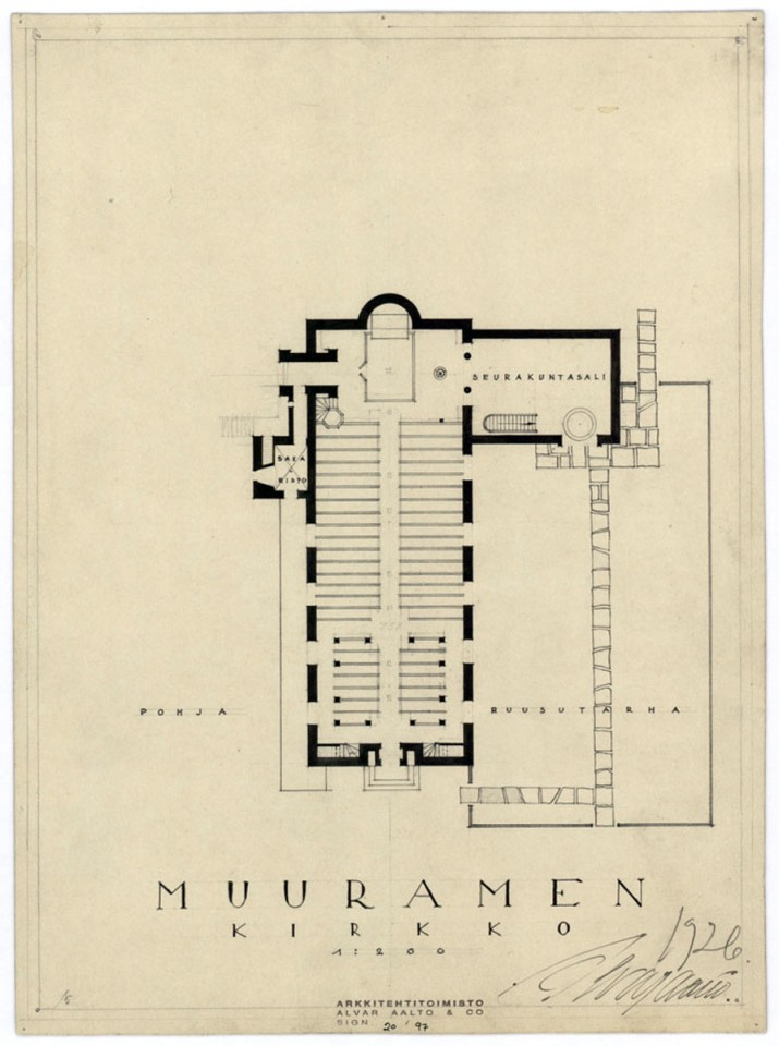 Floor plan, Muurame Church