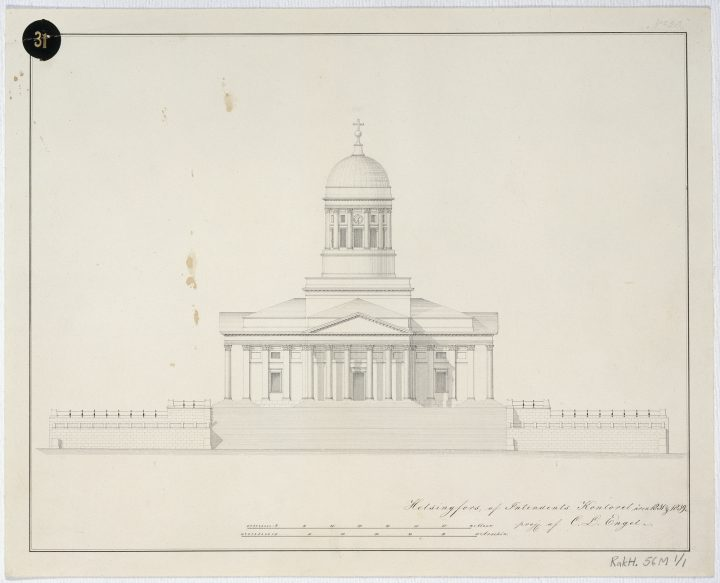 Original drawing, Helsinki Cathedral