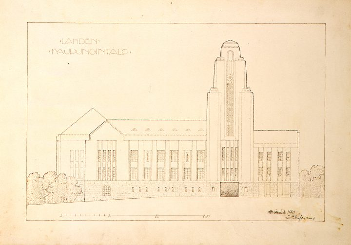 Original drawing, Lahti Town Hall