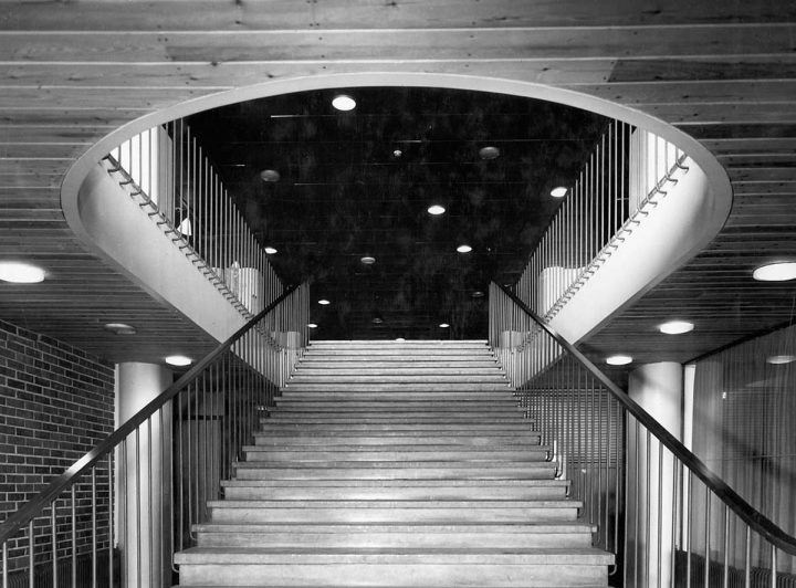 Main staircase, 1950s, Industrial Centre (Hotel Palace)