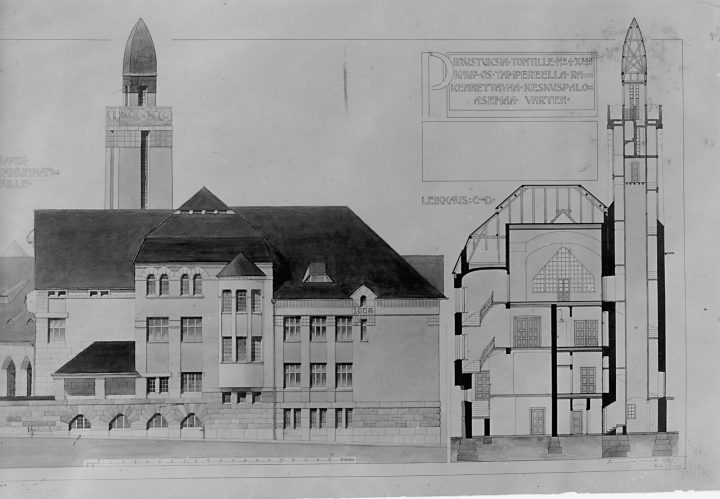 Original drawings, Tampere Central Fire Station
