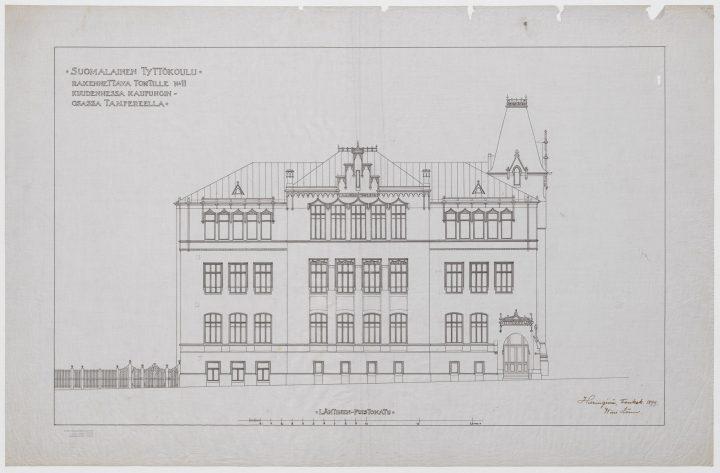 Eastern elevation plan, Tampere Girls' School