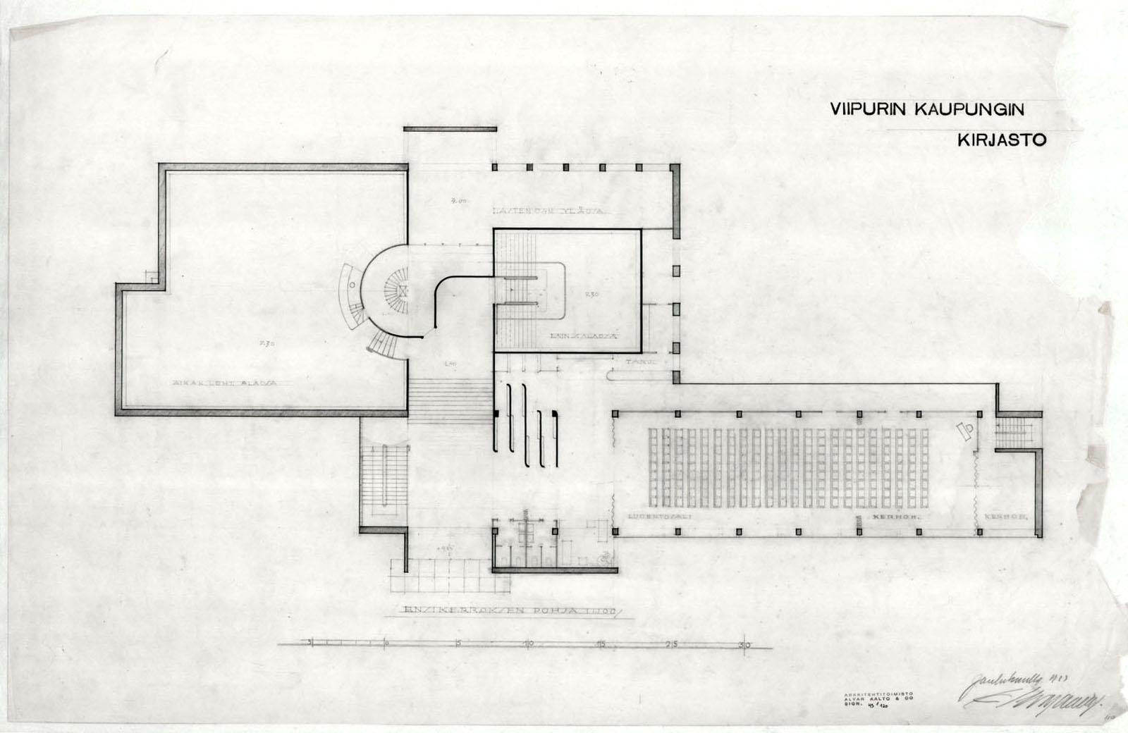 Viipuri Library 183 Finnish Architecture Navigator