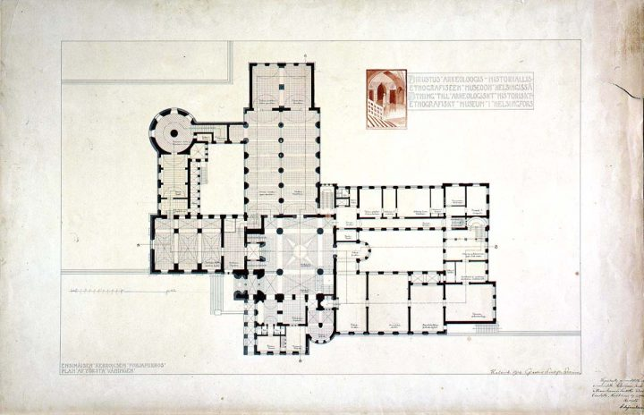 Ground floor plan., National Museum