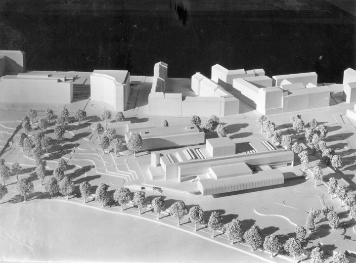 Competition entry scale model, Finnish National Opera