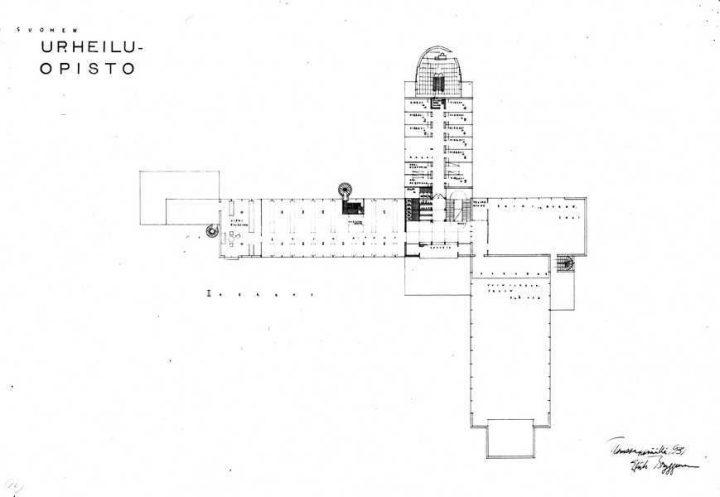 Floor plan, ground floor., Vierumäki Sports Institute