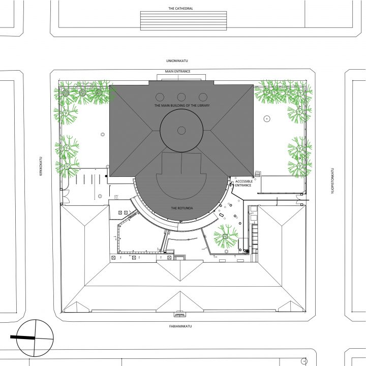 Site plan, The National Library of Finland