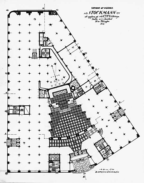 Ground floor plan. , Stockmann Department Store