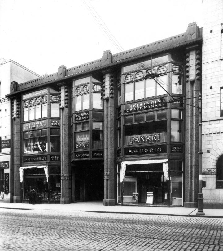 Original street façade, Wuorio Commercial Building