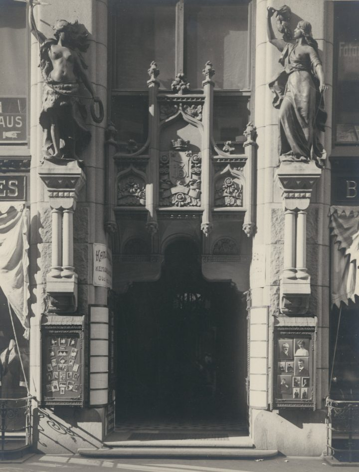 Detail of the façade, Lundqvist Commercial Building