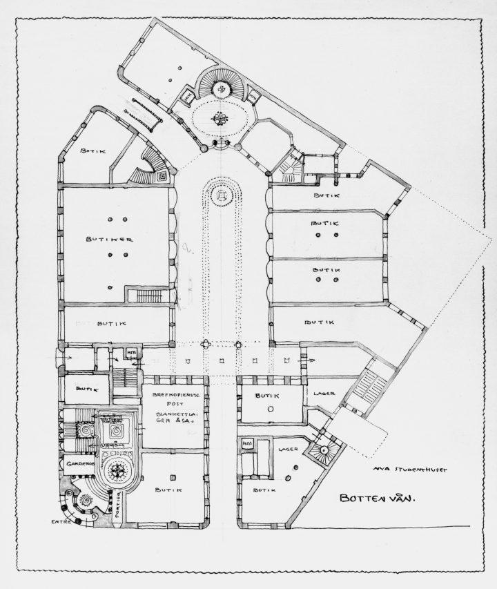 Floor plan of the ground floor, Kaleva Insurance Company