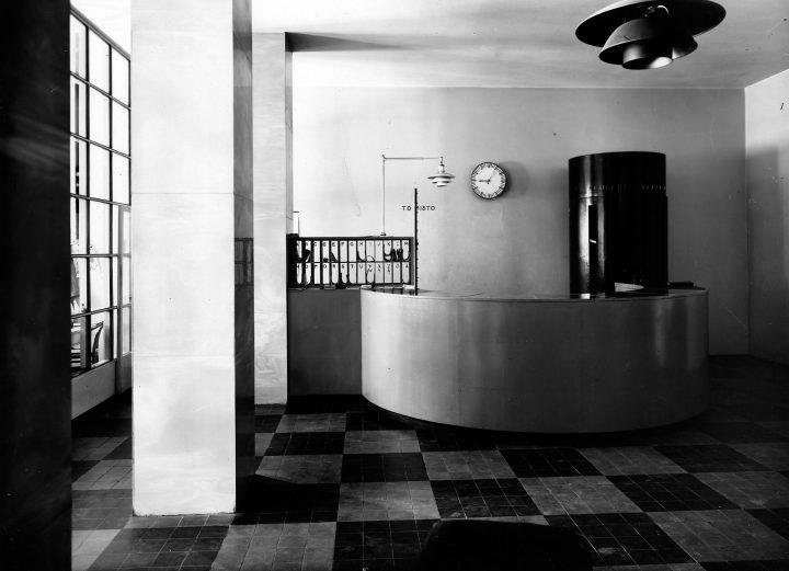 Original hotel reception desk., Hospitz Betel