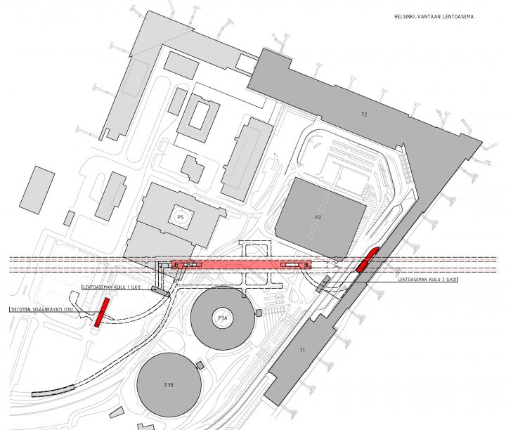 Site plan, Helsinki Airport Railway Station