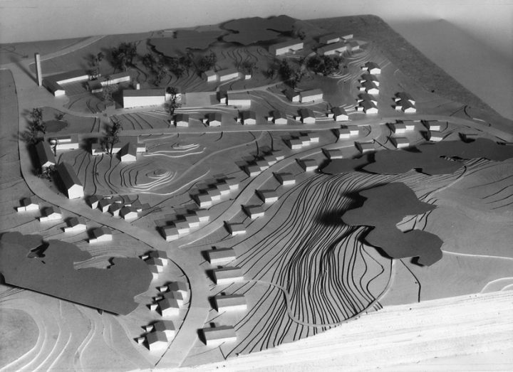 Scale model of the residential area, Laivateollisuus residential area