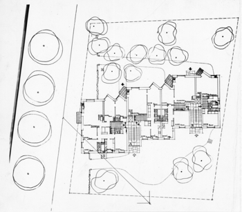 Floor plan., Läntinen Rantakatu 21 apartment building