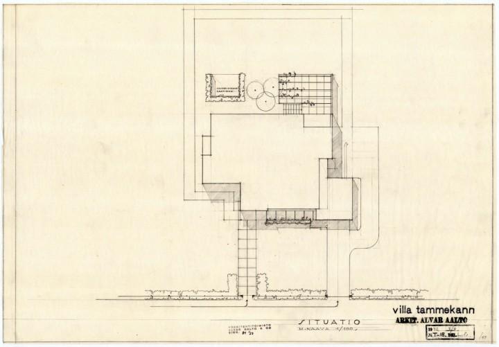 Site plan, Villa Tammekann