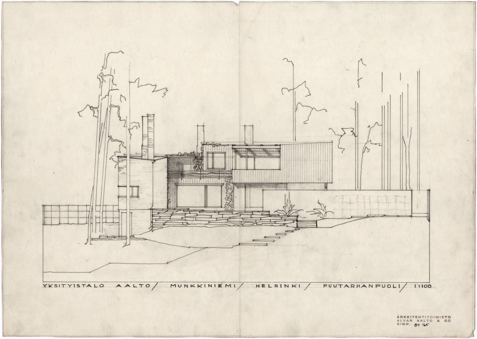 Plan Elevation En Anglais : The aalto house · finnish architecture navigator