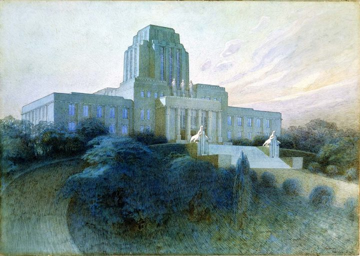 Eliel Saarinen, competition entry (1924), Parliament House
