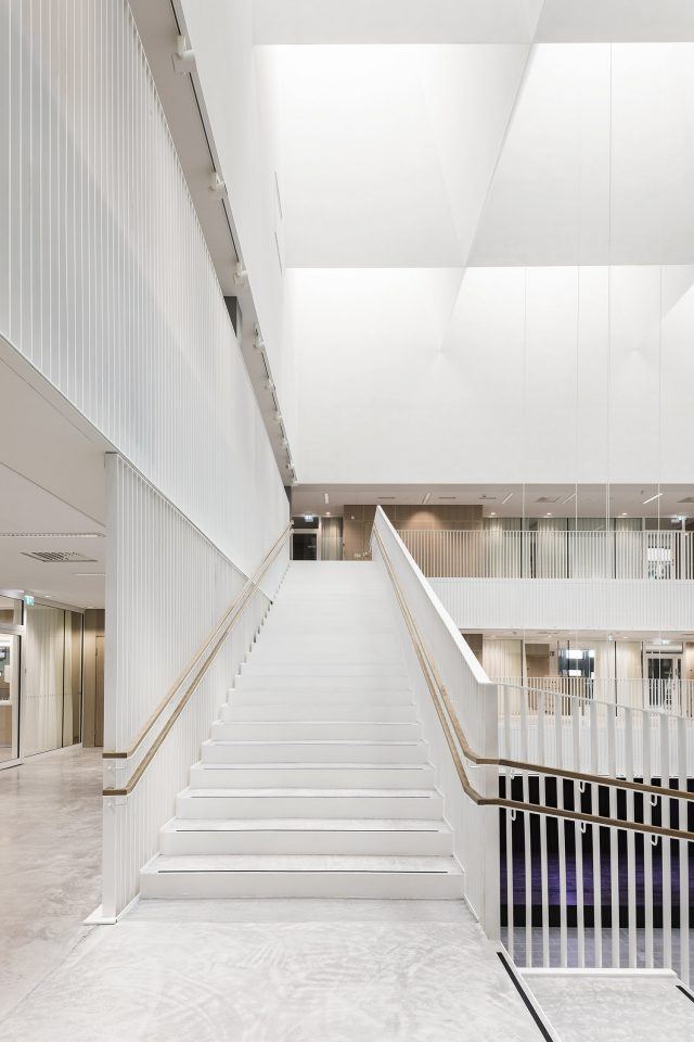 The staircase in the main hall, Jätkäsaari School