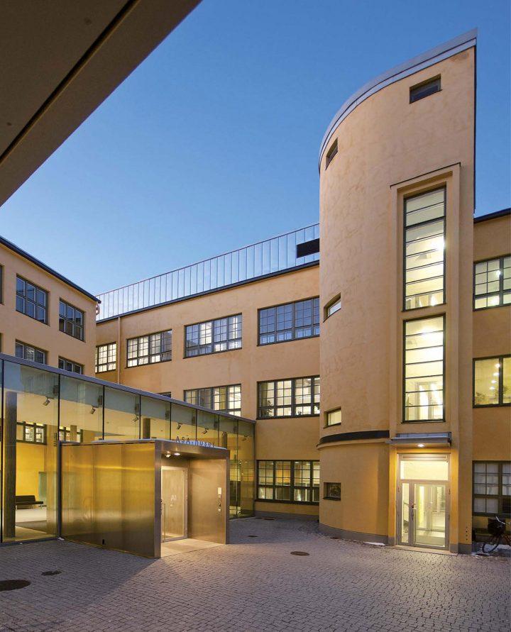 Main entrance, Åbo Akademi University ASA Building