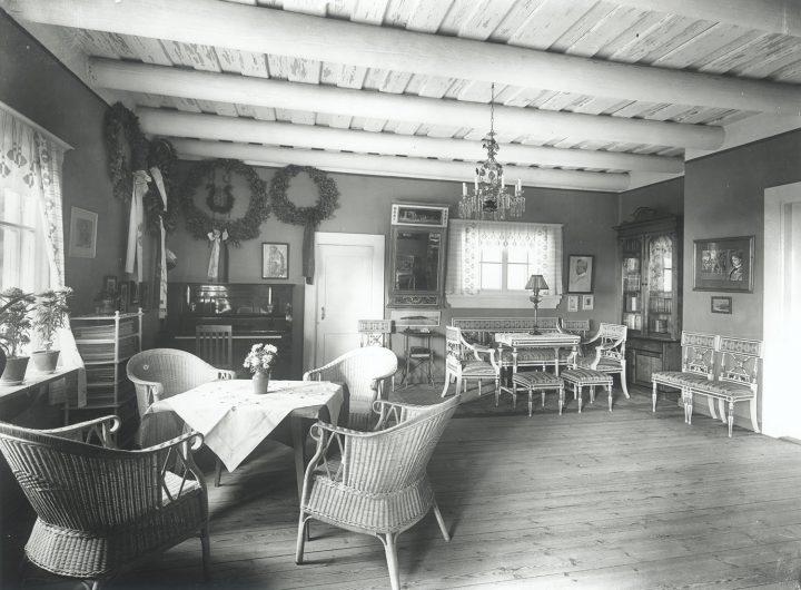 Interior in 1915, Aino and Jean Sibelius' Ainola