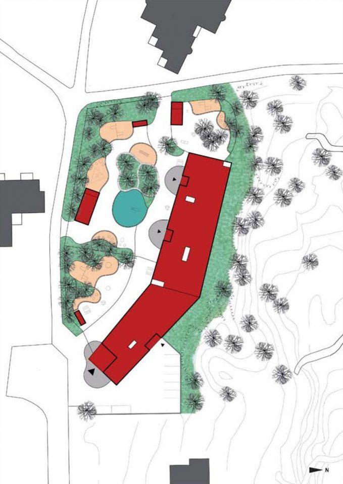 Site plan, Ajurinmäki Daycare Centre