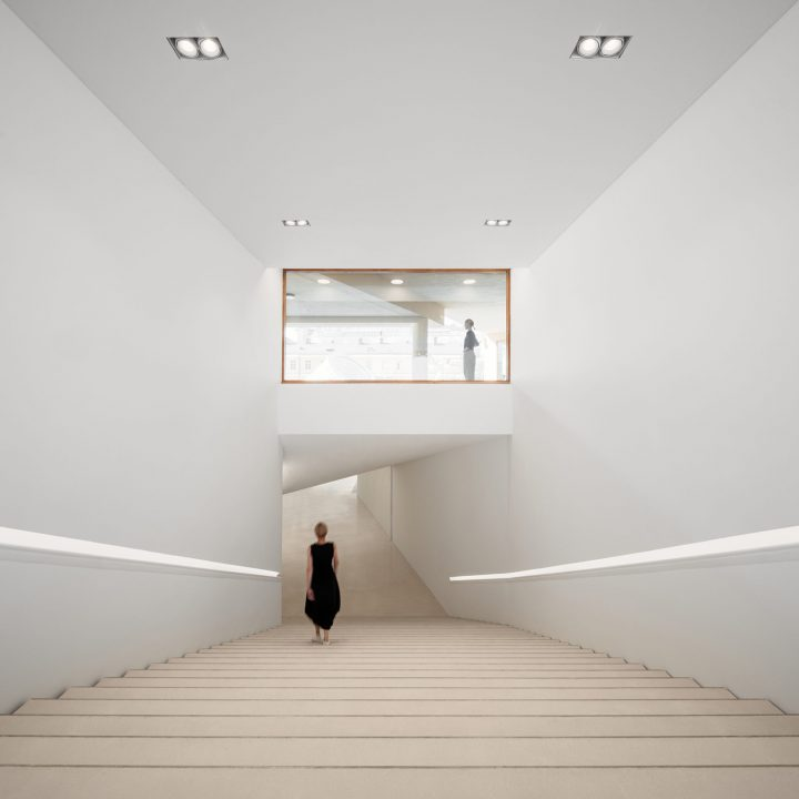 New staircase leading to the museum, Amos Rex Art Museum