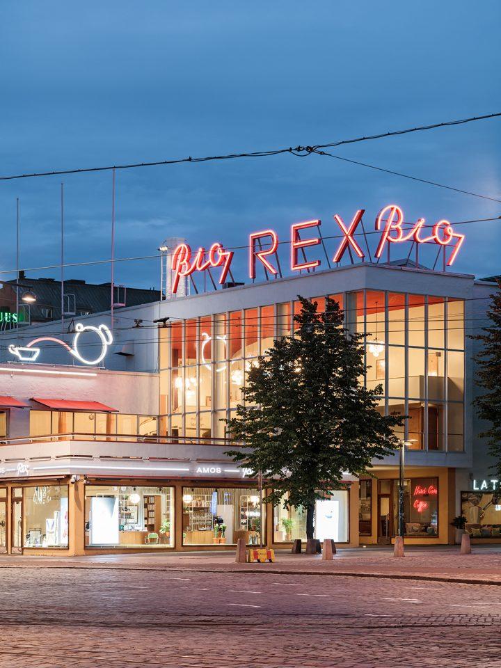 Bio Rex corner on Mannerheimintie street, Amos Rex Art Museum